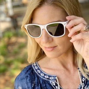 White Wayfarer Sunglasses
